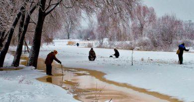 выбор места ловли зимой