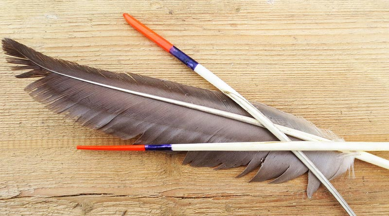 Поплавок из гусиного пера