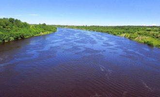 Река Волхов в поселке Бережки