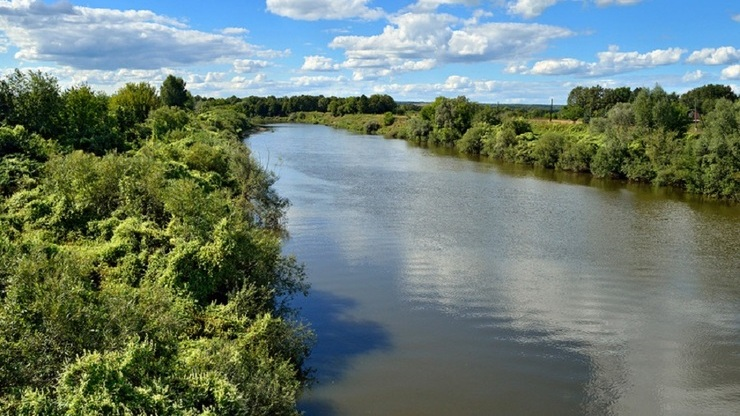 Река Алатырь в селе Мадаево