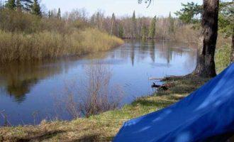 Река Большая Какша в поселке Сява