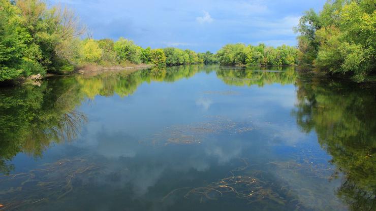 Река Чернава в селе Ивантеевка