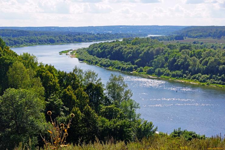 Река Ока в селе Низково
