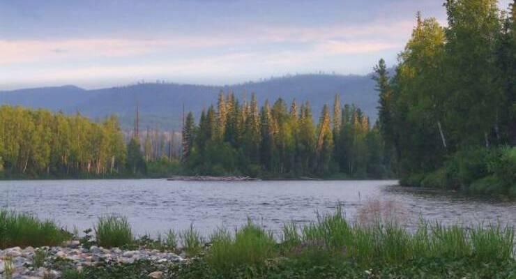 Озеро Онёко в Красноярском крае