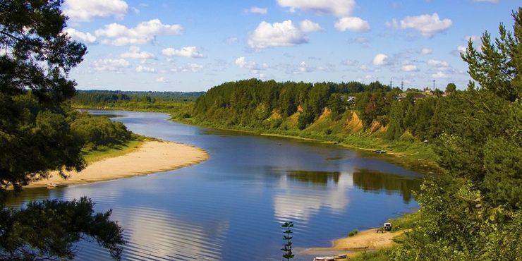 Река Ветлуга в селе Рязаново
