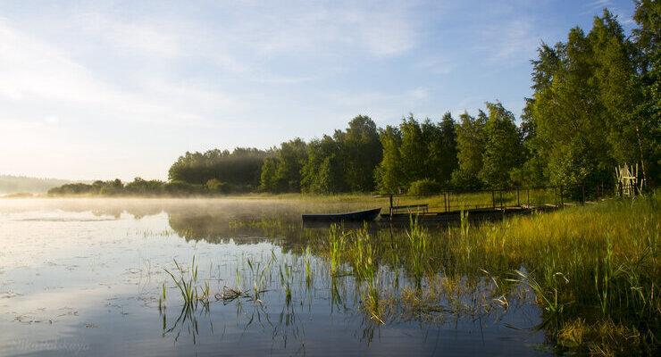 Озеро Краснофлотское в поселке Краснофлотское