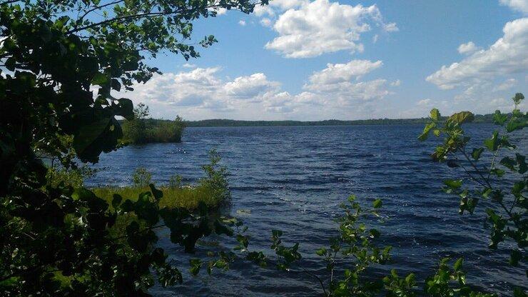 Озеро Ламненское в селе Плотинка