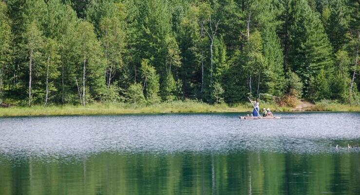 Озеро Окуневое в Красноярском крае