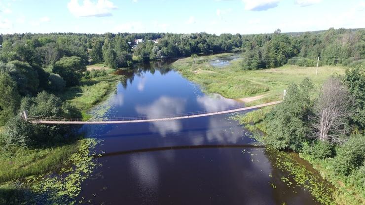 Река Хотча в деревне Бакшеиха