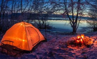 Как обогреть палатку осенью и зимой
